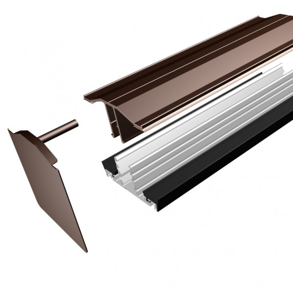 Rafter Supported Glazing Bar For Polycarbonate