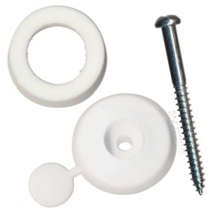 Fixing Button 10mm White Packet of 10