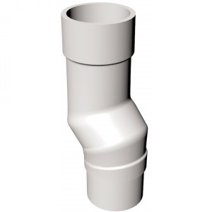 Round Mini Offset Pipe Bend | Choice of Colours | Rockwell Building Plastics