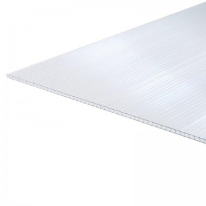 4mm Clear Multiwall Twinwall Polycarbonate Greenhouse panel 700mm x 1200mm