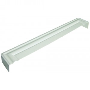 Ogee Fascia Box End Cover in White | Rockwell Building Plastics
