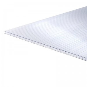 10mm Clear Twinwall Polycarbonate 2m x 700mm