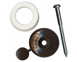 Fixing Button 16mm Brown Packet of 10