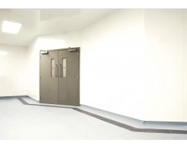 White hygienic wall lining in PVC | Rockwell Building Plastics