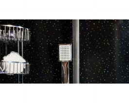 1m wide Shower Panel from Swish Black Diamond