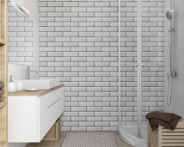 Vox Motivo Interior Wall Cladding White Brick Effect 250mm x 2.65m | Rockwell Building Plastics