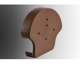 Dry Verge Round Centre Ridge Cap Moulding Terracotta Brown | Rockwell Building Plastics